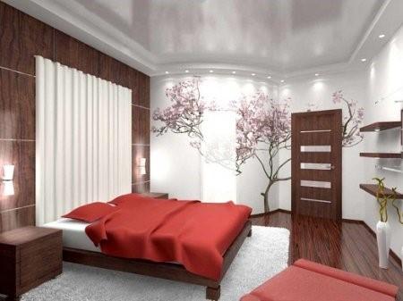 японски стил в спалнята