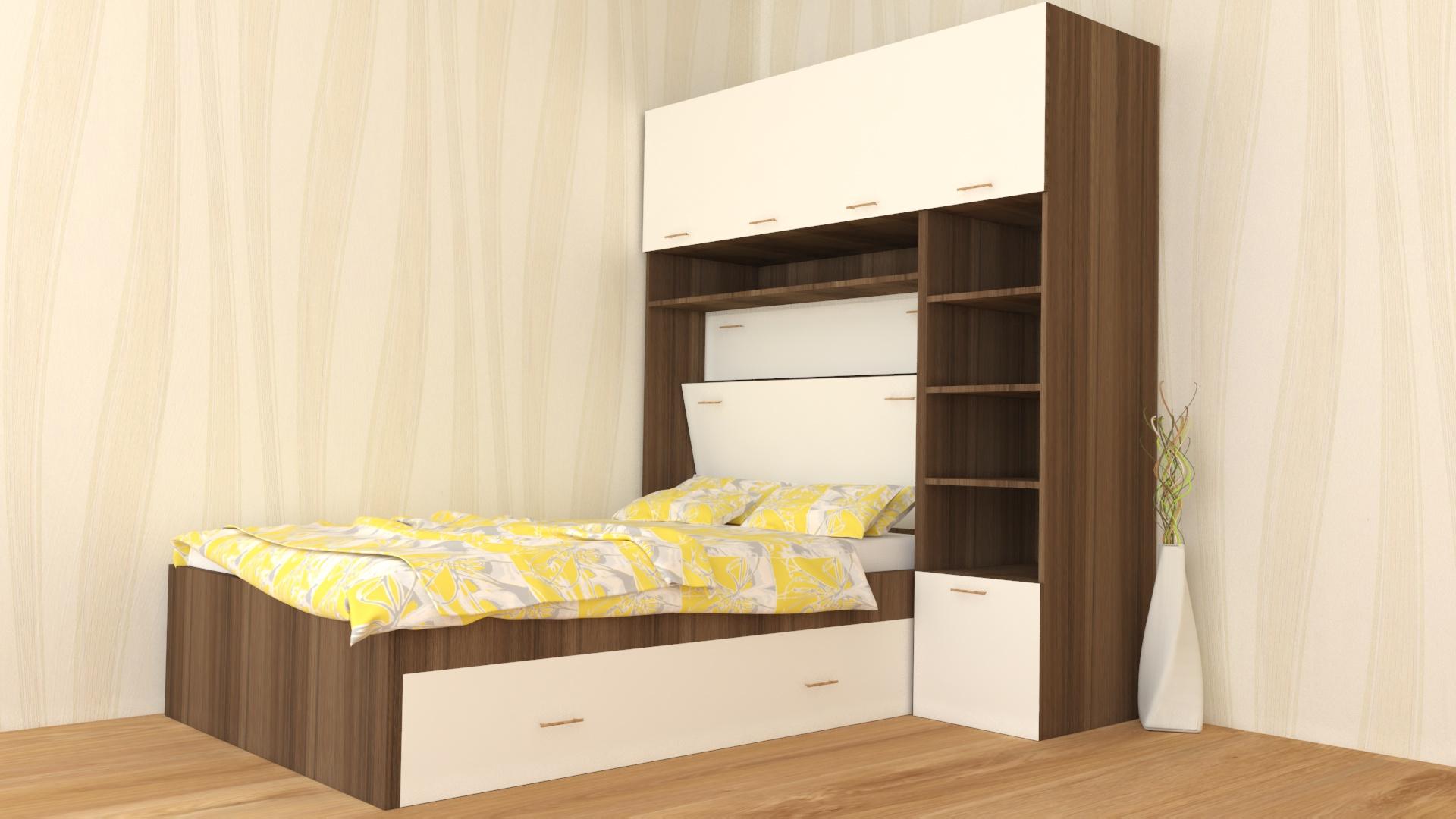 Спалня с етажерка - странично