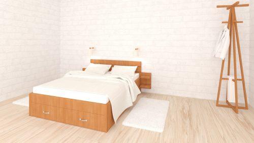спалня, елша, 3d визуализация