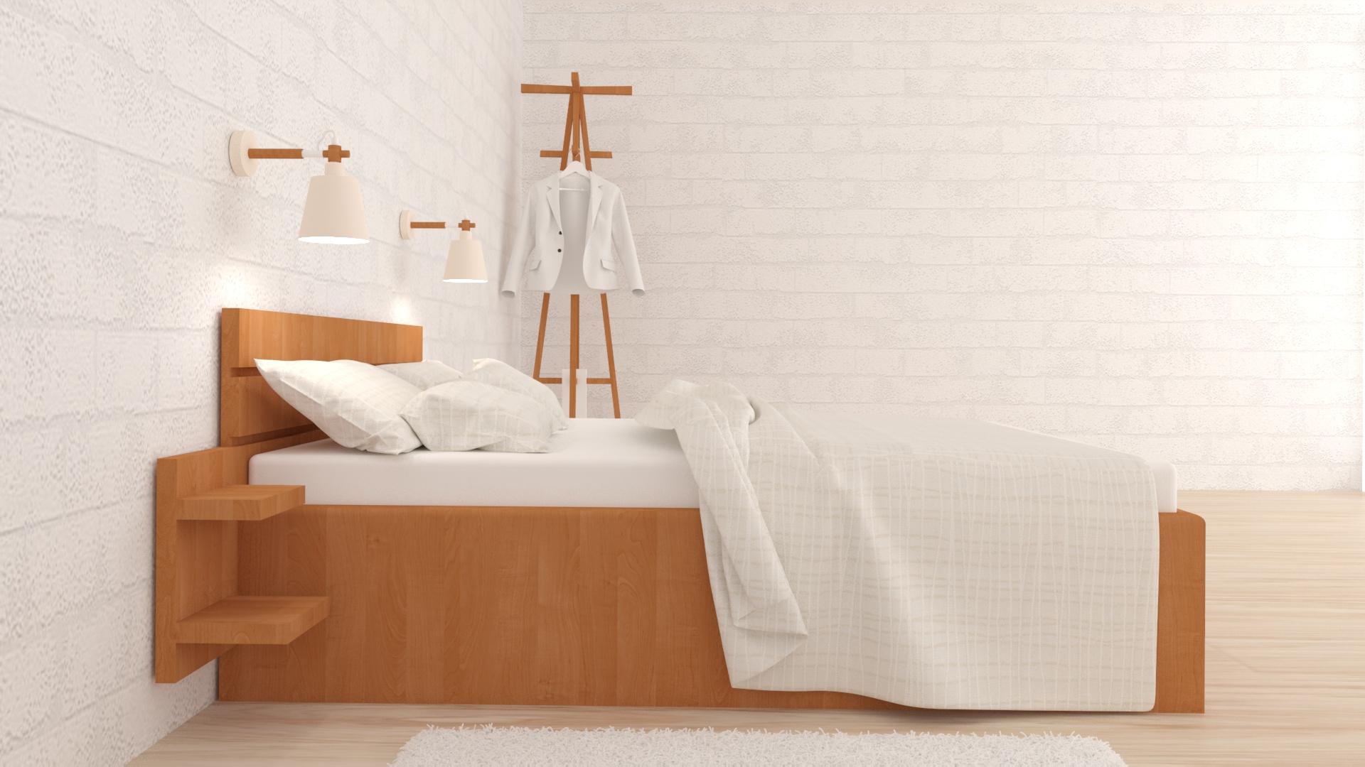 спалня, 3d визуализация