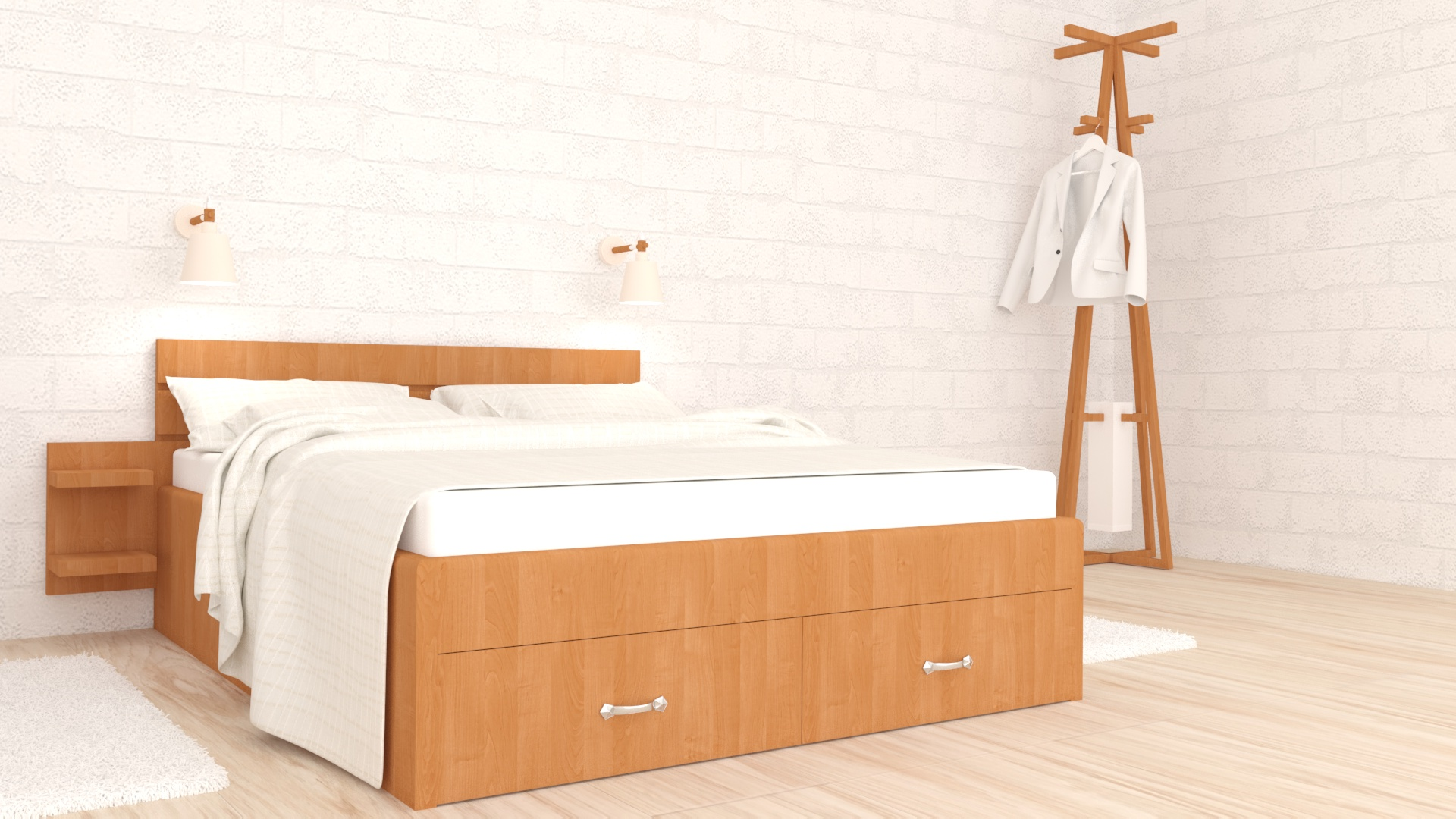 проектиране на спалня, 3d визуализация