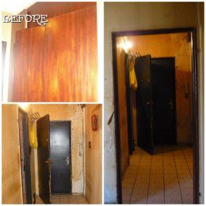 Канела - коридор преди, ремонт на коридор