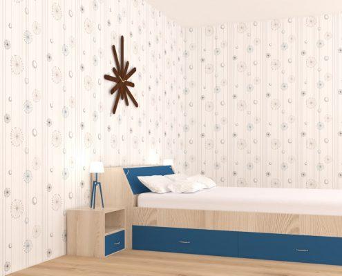 Синя спалня без завивка