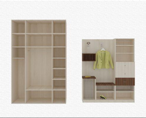 Портманто и вграден гардероб в ниша - разпределение