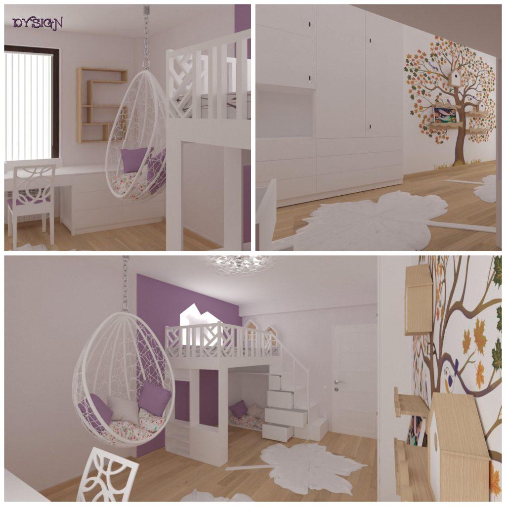 Интериорни проекти - Детска стая Божидара