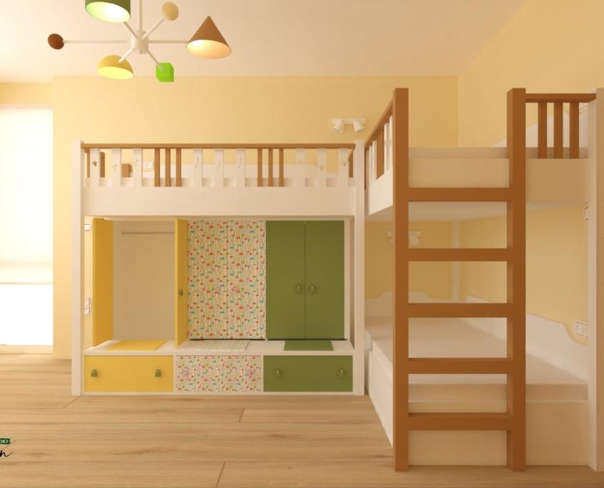 Детска стая Христина_двуетажни легла
