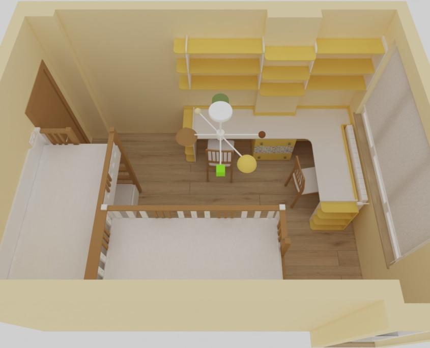 Детска стая Христина_поглед отгоре