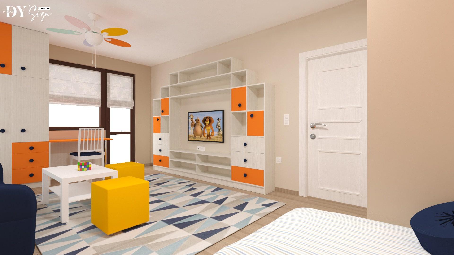 Детска стая Алекс_от леглото