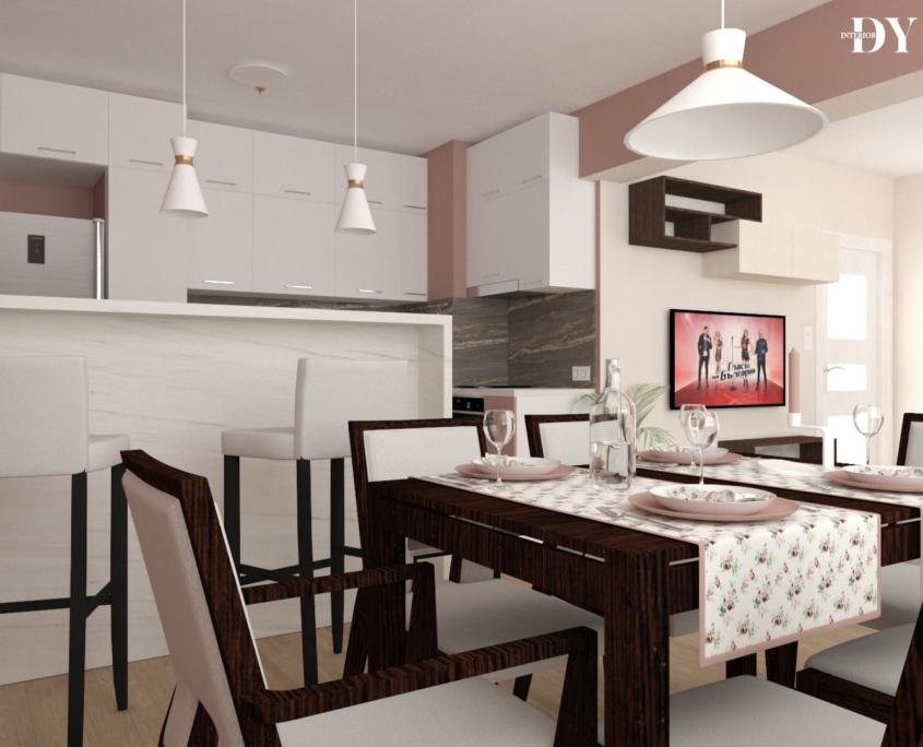 Интериор проекти - Надежда в розово и крем 5