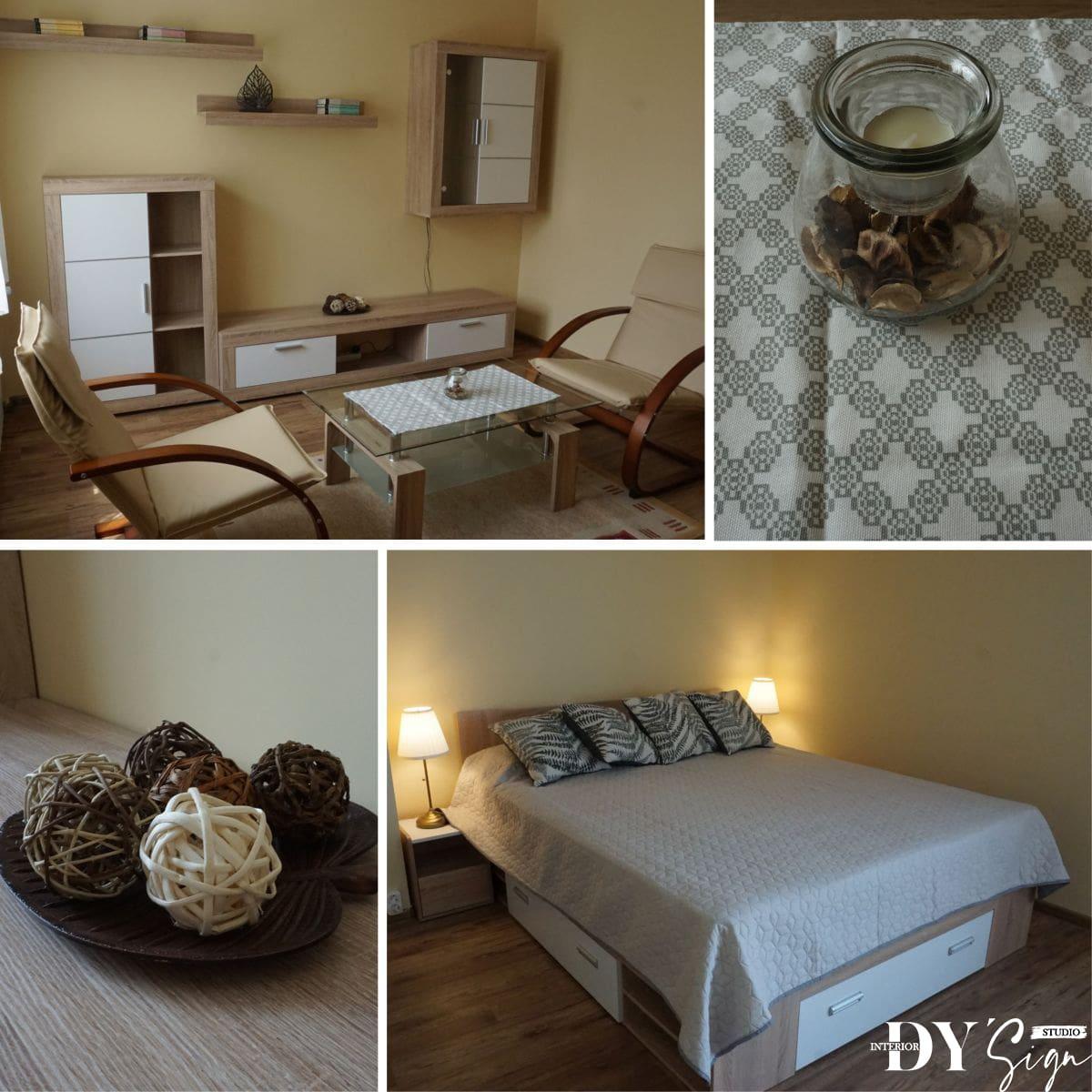Интериор проекти - Апартамент Канела_хол със спалня